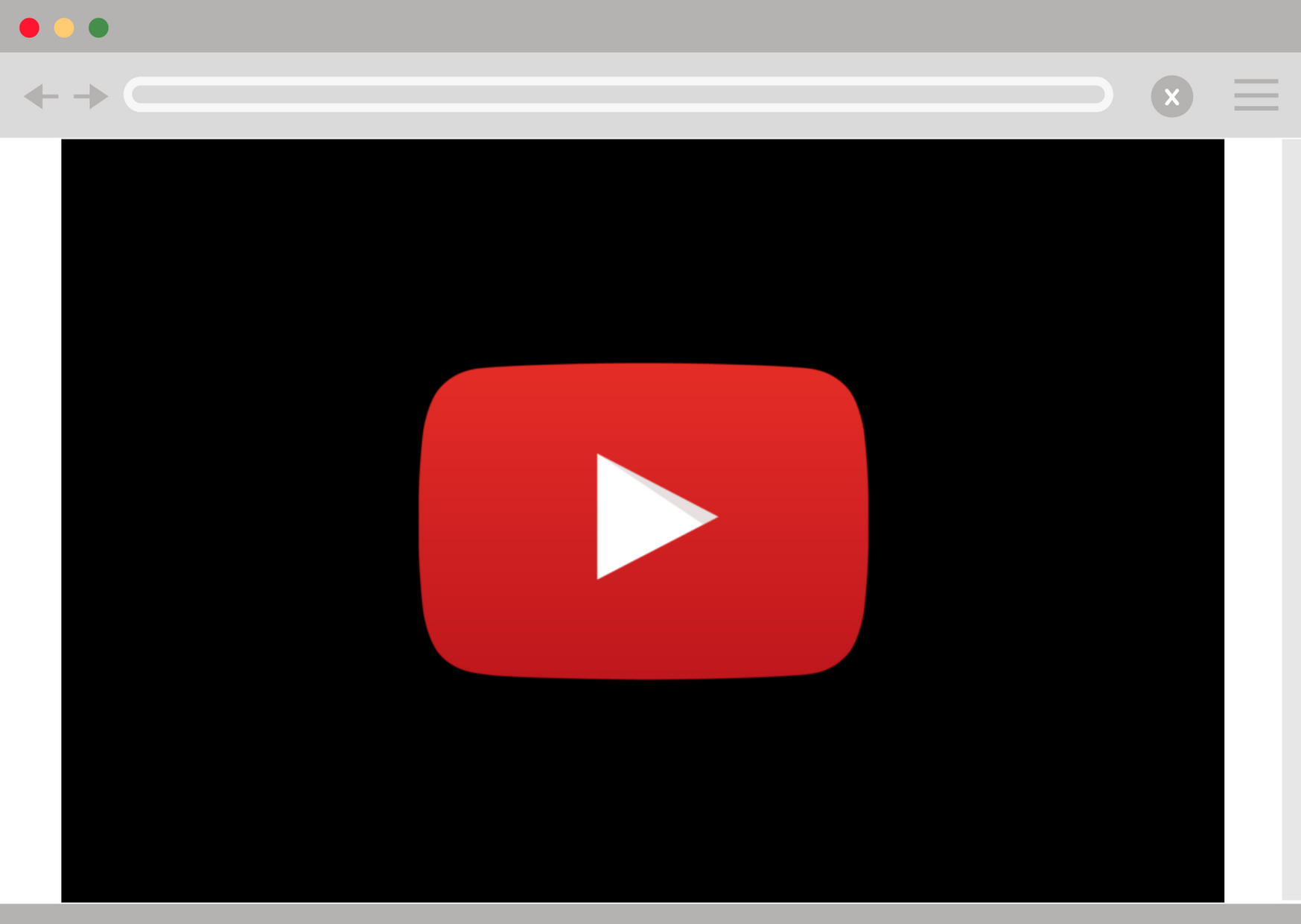 Youtube video on browser
